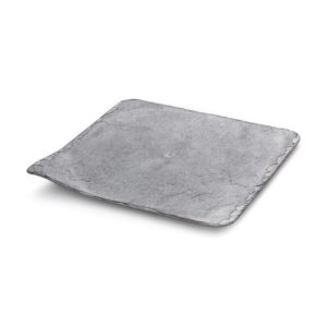 Поднос КАМЕНЬ 20x20 см пластик серый