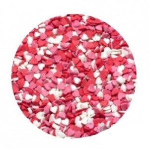 Сердечки Красно-бело-розовые мелкие 100 гр
