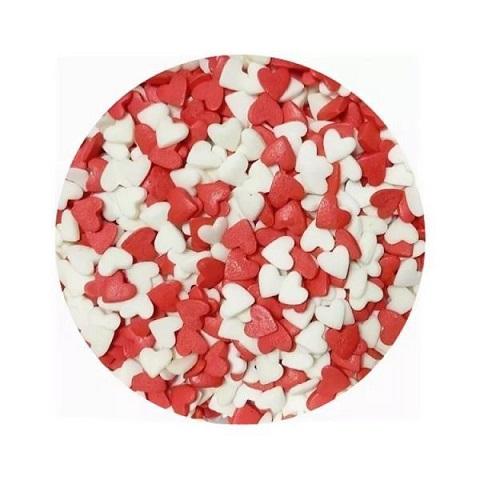 Сердечки Красно-белые 100 гр