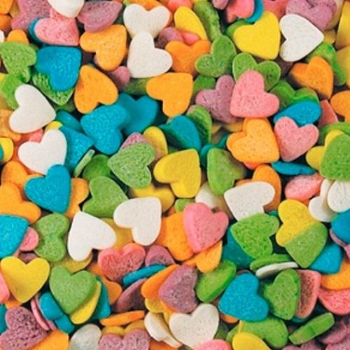 Сердечки разноцветные 750 гр