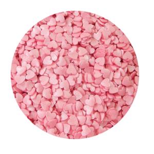 Сердечки розовые мелкие