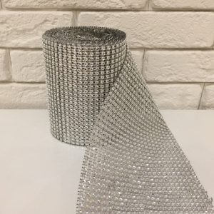 Стразы серебро 120 мм, длина 1 м