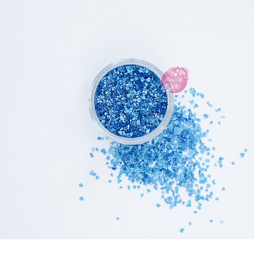 Съедобные блестки Sweety Kit Голубые крупные 5 гр