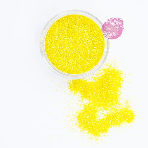 Съедобные блестки Sweety Kit Желтые мелкие 5 гр