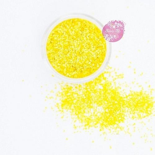 Съедобные блестки Sweety Kit Желтые средние 5 гр