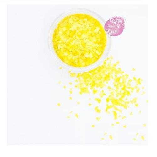 Съедобные блестки Sweety Kit Лимонные крупные 5 гр