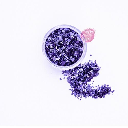 Съедобные блестки Sweety Kit Пурпурные крупные 5 гр