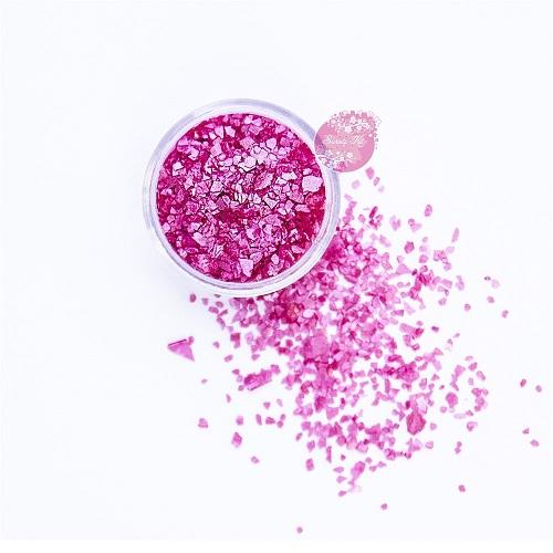Съедобные блестки Sweety Kit Розовые крупные 5 гр