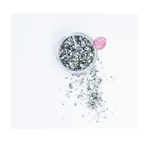 Съедобные блестки Sweety Kit Серебро крупные 5 гр