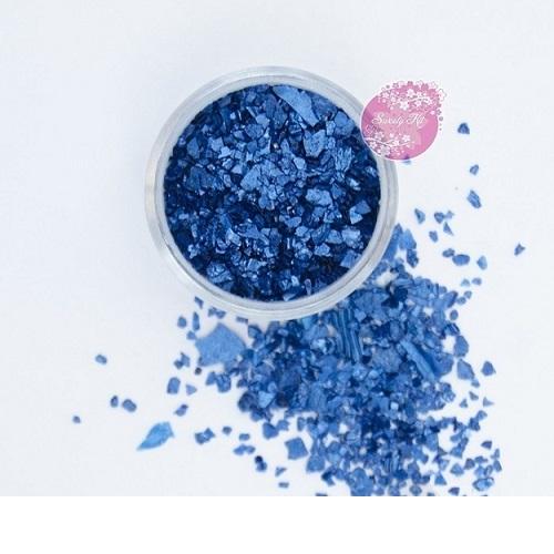 Съедобные блестки Sweety Kit Синие крупные 5 гр