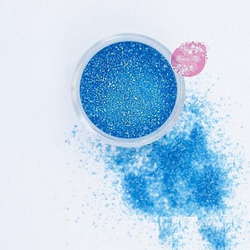 Съедобные блестки Sweety Kit голубые мелкие 5 гр