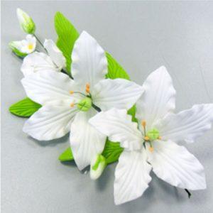 Украшение сахарное Букет белые лилии