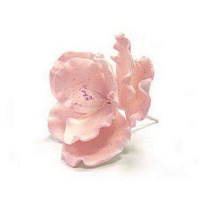 Украшение сахарное Цветок шиповника розовый 1 шт