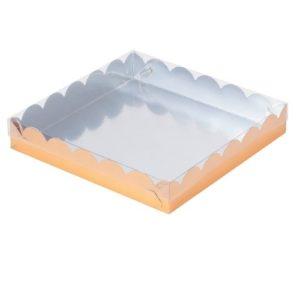 Упаковка для пряников Золото 20х20х3,5 см