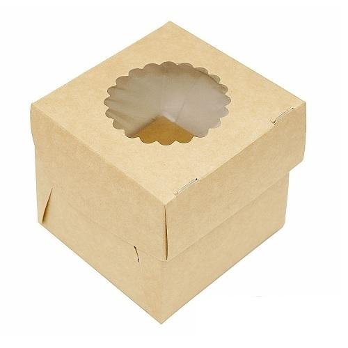 Упаковка на 1 капкейк двухсторонняя