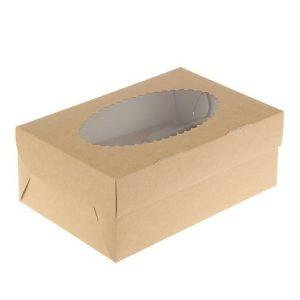 Упаковка на 2 капкейка двухсторонняя