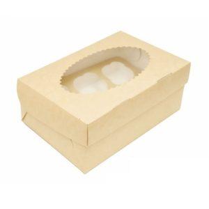 Упаковка на 3 капкейка двухсторонняя