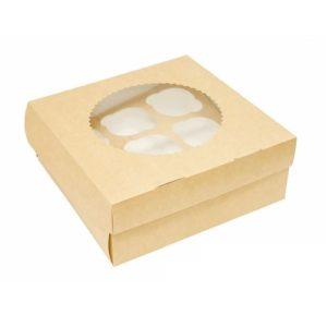Упаковка на 9 капкейков двухсторонняя