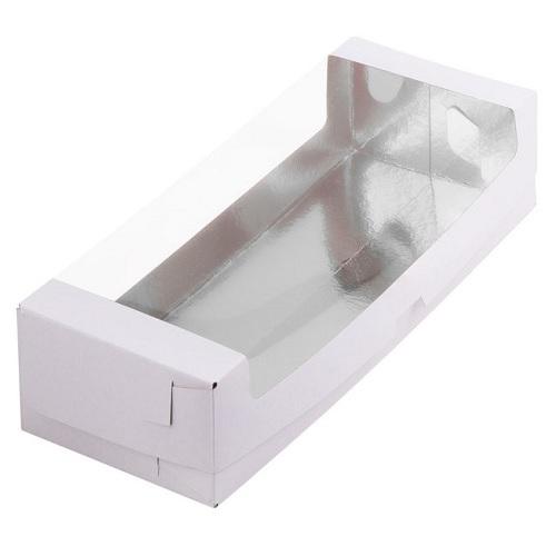 Упаковка под рулет с окном Белая