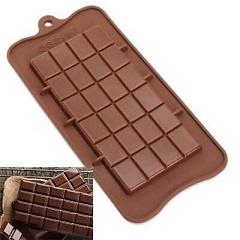 Силиконовая форма плитка шоколада