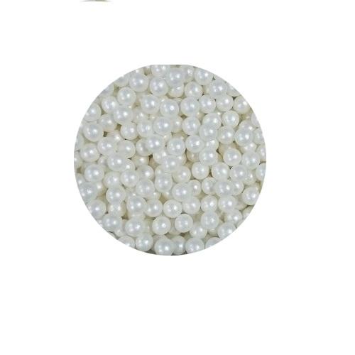 Шарики Белый перламутр 6 мм 100 гр