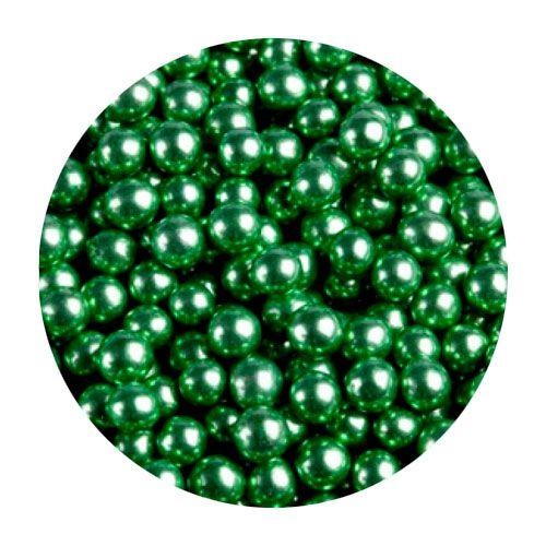 Шарики Зеленые металл 5 мм 100 гр