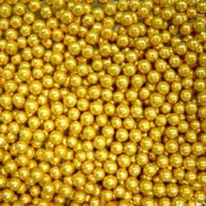 Шарики Золотой перламутр 2 мм 100 гр