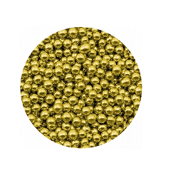 Шарики Золото 3 мм 100 гр