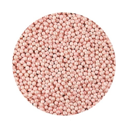 Шарики Розовые перламутровые 2 мм 70 гр