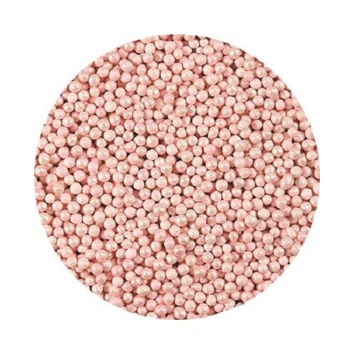 Шарики Розовые перламутровые 2 мм 1 кг