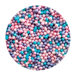 Шарики микс Голубой/лиловый/розовый 2 мм 100 гр