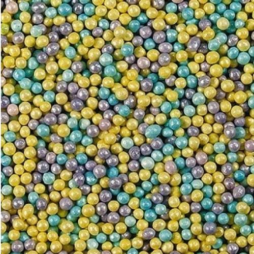 Шарики микс Голубой/лиловый/желтый 2 мм 100 гр