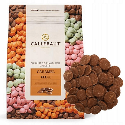 Шоколад со вкусом карамели Barry Callebaut в галетах, 2,5 кг