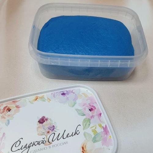 Синяя мастика сладкий шелк