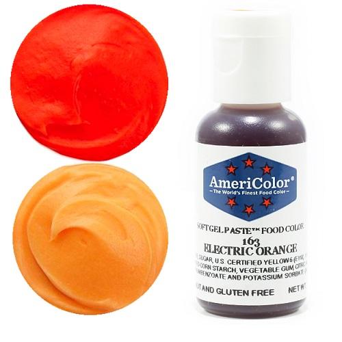 Краситель пищевой AmeriColor Electric Orange (Оранжевый электрик) 21 гр