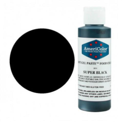 Краситель пищевой AmeriColor Super Black (супер черный) 128 гр