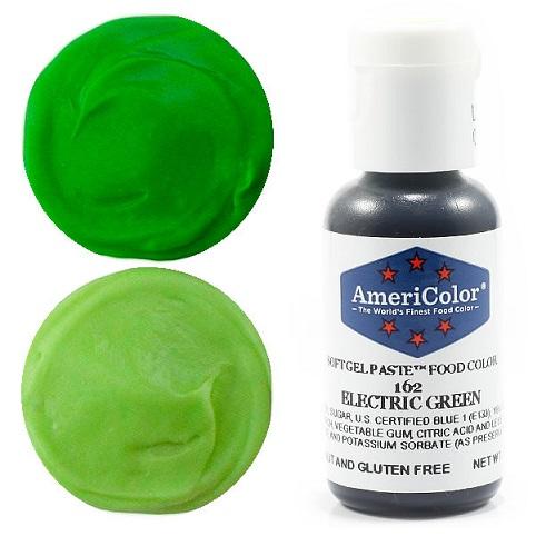 Краситель пищевой AmeriColor Electric Green (Зеленый электрик) 21 гр