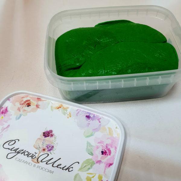 Мастика Сладкий шелк темно-зеленая 0,25 кг