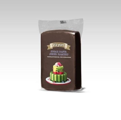 Сахарная мастика Polen Vizyon коричневая, 1 кг.