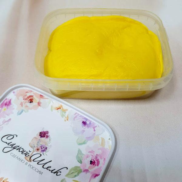 Желтая мастика Сладкий шелк 0,25 кг