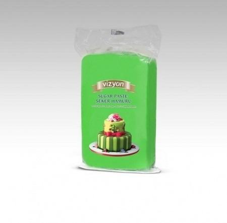 Сахарная мастика Polen Vizyon зеленая, 1 кг.