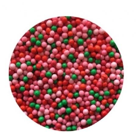 Шарики микс Красный/розовый/зеленый 2 мм 1 кг