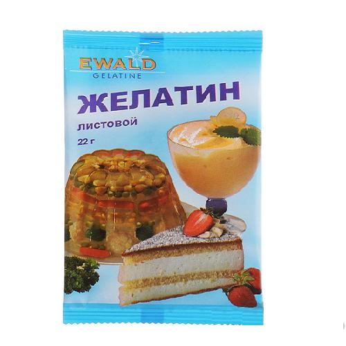 Желатин листовой Ewald 22 гр