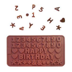 Силиконовая форма для конфет С Днем рождения