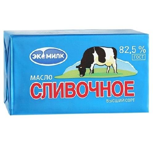 Масло сливочное Экомилк 82.5%