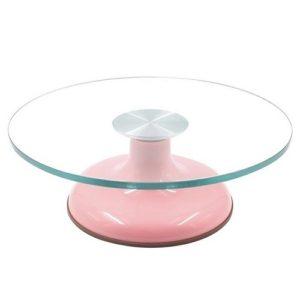 Поворотный стол стекляный 30 см h 11 см