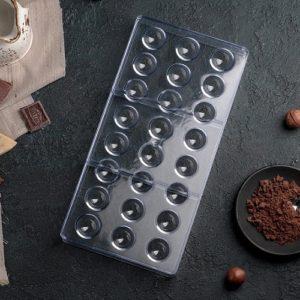 Форма для конфет Сфера 24 ячейки