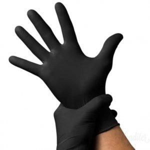Перчатки нитриловые черные S