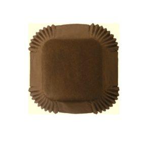 Капсулы для конфет бумажные, квадратные, коричневые 35 мм. х 35 мм. 50шт