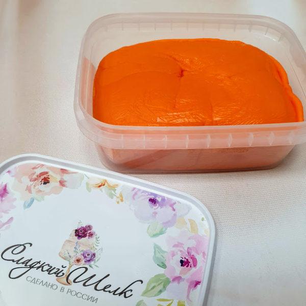 Мастика Сладкий шелк оранжевая 0,25 кг